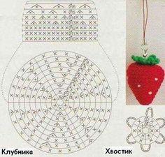 Kasutaja Amigu World - Free amigurumi patterns foto. Crochet Cake, Crochet Fruit, Crochet Diy, Crochet Food, Love Crochet, Crochet Motif, Crochet Crafts, Crochet Dolls, Crochet Flowers