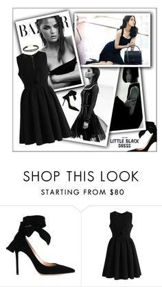 """""""Little Black Dress"""" by frenchfriesblackmg ❤ liked on Polyvore featuring Gianvito Rossi and Chicwish"""