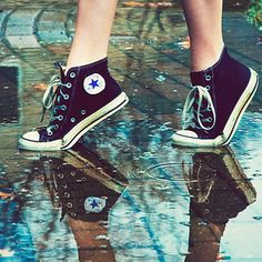 Can't go wrong in Chuck Taylors!