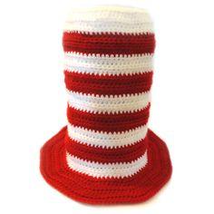 #Crochet Pattern: Striped Top Hat (5 Sizes) for sale @crochetspot