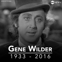 Gene Wilder died August 2016 after complications from 3 years with Alzheimers