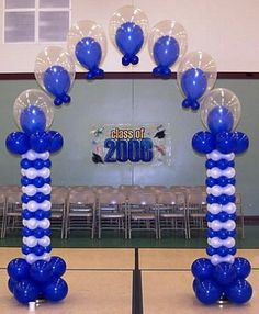 1000 images about graduation arch on pinterest balloon for Balloon decoration ideas for graduation