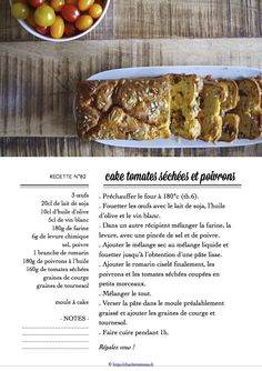 Carton Recette n°82 Olives, Four, Recipe Cards, French Toast, Veggies, Beef, Rustic, Breakfast, Soy Milk