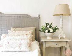 Cabecero de cama romántico de haya - shabby chic