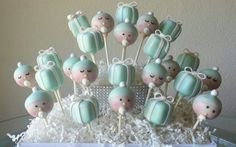 Tiffany Baby Shower Cake Pops  Tiffany by TheMaDCakePopShop, $36.00
