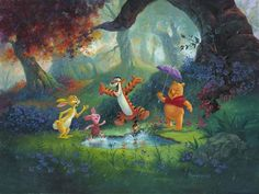 The Rescuers Down Under, The Little Match Girl, Puddle Jumping, The Great Mouse Detective, Disney Fine Art, Walt Disney Studios, Canvas Artwork, Tigger, Winnie The Pooh