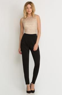 pastell rosa damen overall jumpsuit anzug lang bestickt. Black Bedroom Furniture Sets. Home Design Ideas