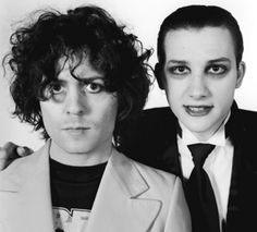 Marc Bolan and Dave Vanian