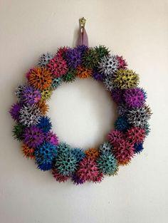 Sweetgum wreath...