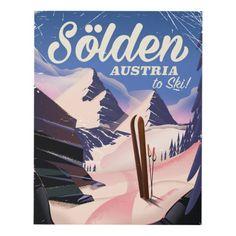 Sölden Austria vintage ski poster