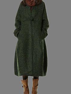 women wool coat loose coat wool jacket winter by cottondress23