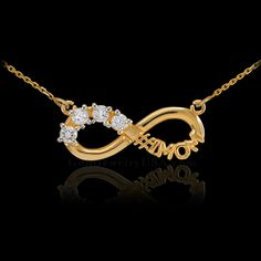Sterling Sterling Infinity #1MOM Necklace 4 CZ Birthstones Of  Your Choice!!