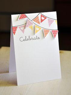 Celebration Banner Card by Maile Belles for Papertrey Ink (June 2012)