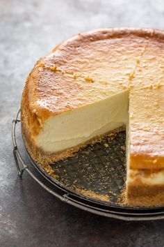 This extra rich and creamy cheesecake is freezer friendly and so delicious! Perfect for special occasions! Top with whipped cream for an extra decadent treat.
