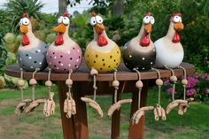 Clay Crafts, Diy And Crafts, Crafts For Kids, Arts And Crafts, Paper Crafts, Cement Art, Concrete Crafts, Chicken Crafts, Chicken Art