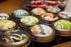 IHeart Organizing: A Pinteresting Christmas- DIY mason jar sewing kits