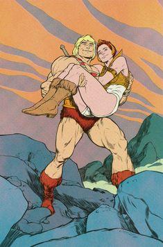 He-Man, Teela TPWP by Laemeur.deviantart.com