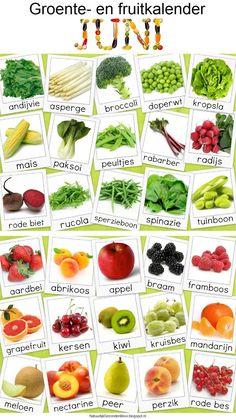 Natuurlijk Gezond en Mooi: Groente- en fruitkalender juni
