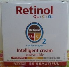 "RETINOL INTELLIGENT CREAM ""ANTI-WRINKLE"" BY MINCER by MINCER. $22.99. Recommended for a tired complexion with signs of aging.. Nourishing, Anti-Aging.. Mincer Retinol Q10 + C  +  O2 + Active Oxigen Intelligent Cream  Anti-Wrinkle Night Cream After just two weeks of using this cream there is a visible improvement in the skin's condition."