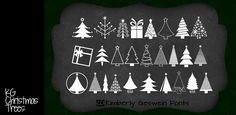 KG Christmas Trees | dafont.com