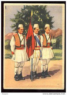 Kostume burrash. Costumes albanais. Vestidos masculinos albaneses. Albanian men costumes. |