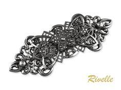 Haarspange Silber Tracht Haarschmuck Französische   Etsy Brooch, Etsy, Hair, France, Inspiration, Jewellery, Hair Pins, String Of Pearls, Hair Jewelry