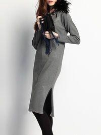 Fashion Knitting Sweater Dress