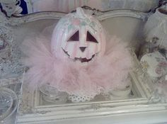 Olivia's Romantic Home: Shabby Chic Halloween Pink Pumpkin
