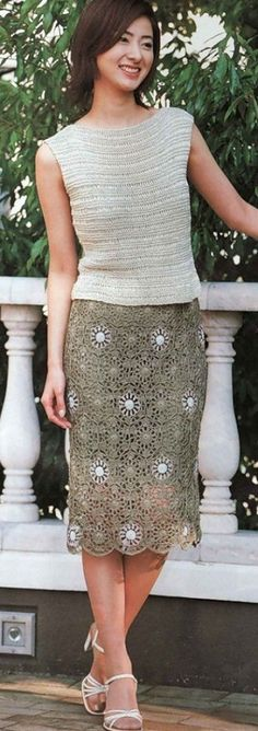 era Crochet skirt with diagrams.