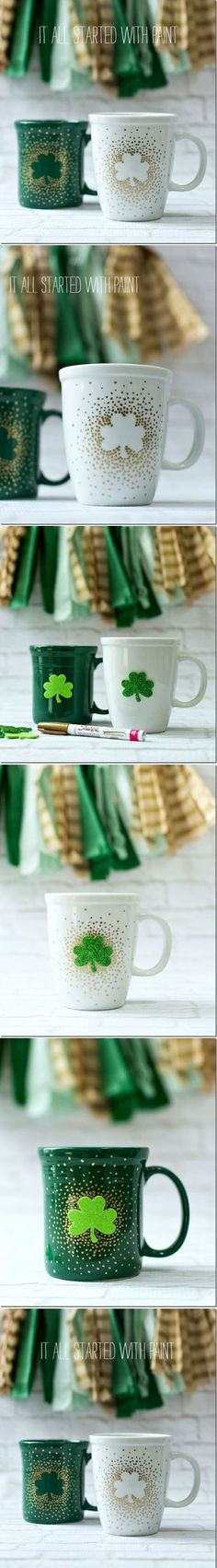 DIY Irish Coffee Mugs