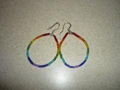 Rainbow Hoops by sofiaberg on Etsy, $5.00