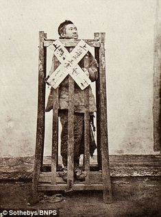 Acriminal being punished (pictured)...