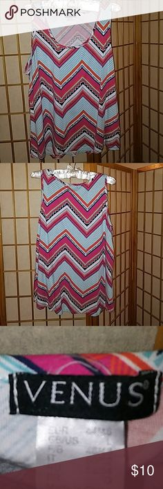 Sleeveless multi color tank Very nice multi colored tank just in time for summer ahead. Worn 3 times in excellent condition. No rips tears or snags. Tops Tank Tops