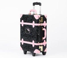 Hello Kitty Vintage Suitcase: Black