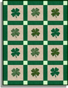 SHAMROCK CLOVER SL Precut Quilt Kit now to find someone who can make this.