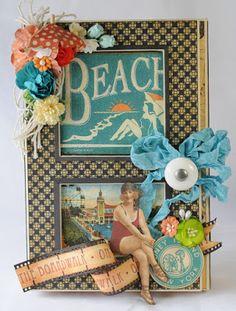 "Killam Creative: Beach Album And Keepsake Box, Graphic 45 ""On The Boardwalk"" @Graphic45"