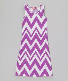 Love this Purple Rain Zigzag Maxi Dress - Girls by Chillipop on #zulily! #zulilyfinds