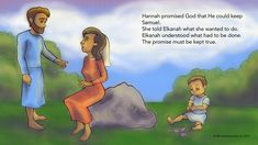 Page 7 of Hannah's Prayer #fishnetbiblestories #art #illustration #bible #childrenillustration #prayer artwork © fishnetbiblestories.com 2017
