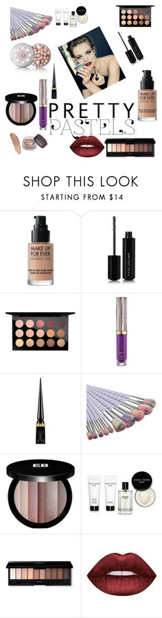 """Bez naslova #174"" by selma-masic1 ❤ liked on Polyvore featuring MAKE UP FOR EVER, Marc Jacobs, MAC Cosmetics, Urban Decay, Christian Louboutin, Edward Bess, Bobbi Brown Cosmetics, Lime Crime and Guerlain"
