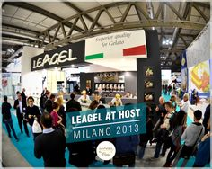 Stand of Leagel. Superior Quality for Gelato #People at Host 2013