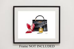 CHRISTIAN LOUBOUTIN Red Shoes Hermes Kelly Bag by SubjectArt