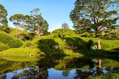 Hobbiton (film set) Matamata NZ The Shire where hobbits from J.Tolkien Lord of the rings lived Where Is New Zealand, Visit New Zealand, New Zealand Tours, New Zealand Travel, Tolkien, Places To Travel, Places To See, The Hobbit, Hobbit Hole