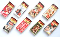LOT of 8 vintage COCA COLA coke retro set classic by digister