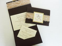 beautiful wedding invitation ~ comes in other colors of paper