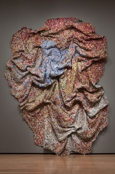 El Anatsui Made of bottle caps