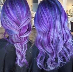 purple blue hair color appreciated by www.extensionsofyourself.com