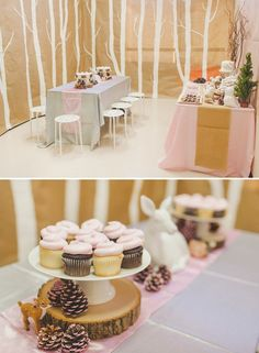 forest party decoration ideas and tablescape