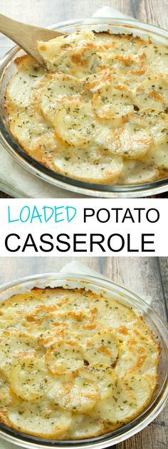 Loaded Potato Casserole Loaded Potato Casserole Recipe - A fantastic side dish the whole family will love! If you are a fan of casserole recipes that can be used a side-dish, then everyone will be coming back for seconds! Think Food, I Love Food, Good Food, Yummy Food, Healthy Food, Potato Dishes, Vegetable Dishes, Food Dishes, Loaded Potato Casserole