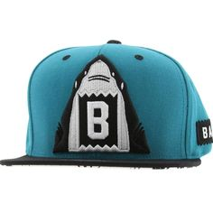 0472652ddc4 BAIT x Mitchell and Ness Shark Snapback Cap (teal   black) NQ41Z-171