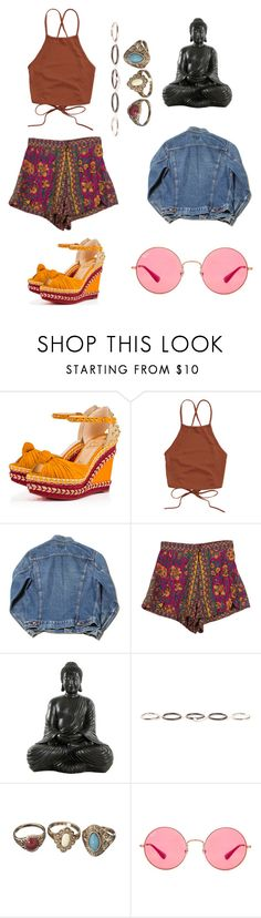 """☮️💟🕉☯️"" by monstah-monstah ❤ liked on Polyvore featuring Christian Louboutin, StyleNanda, Henson and Ray-Ban"